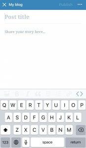 WordPress Blog screenshot