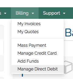 billing menu