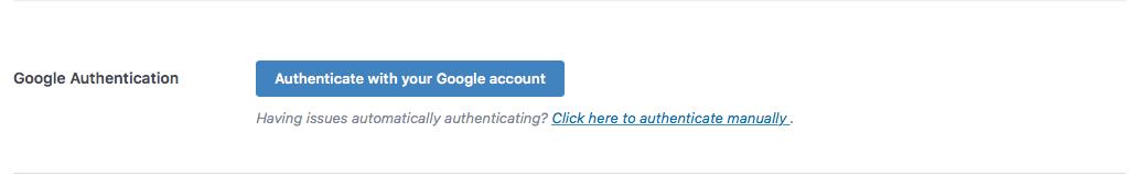 Authenticate Google account