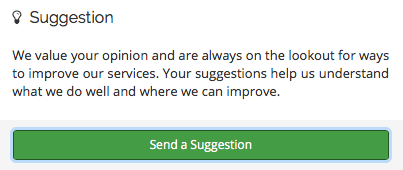 suggestion request