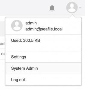 System Admin Menu