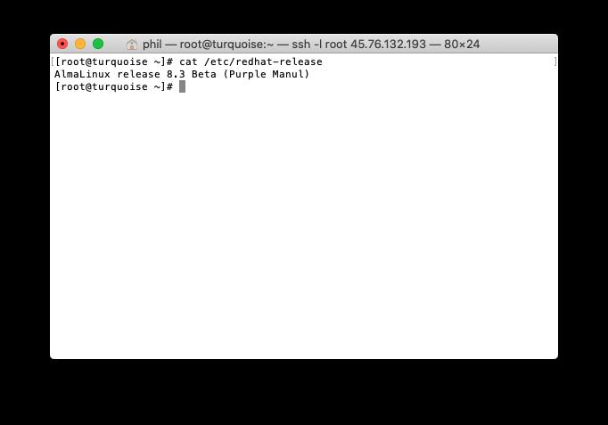 AlmaLinux Terminal